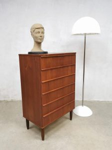 Vintage Danish design teak chest of drawers Deense ladekast