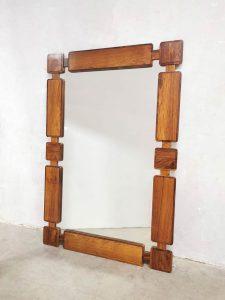 Danish vintage design rosewood wall mirror palissander spiegel XL
