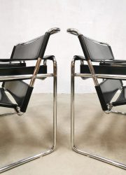 Eighties design Fasem chairs Italy vintage Wassily chair stoel