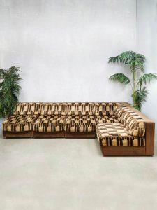 Vintage design modular sofa elementen bank modulair 'Earth tones'