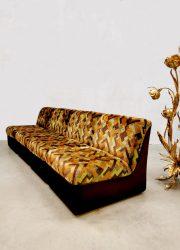 vintage design corner sofa couch hoekbank modular velvet pattern