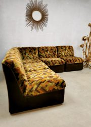 Vintage design modular sofa velvet bank Multicolor Geometric