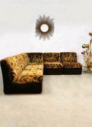 Vintage modulaire bank sofa velvet velours
