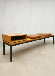 vintage midcentury design side table television table industrial sofa