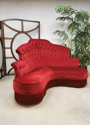 Vintage design velvet corner sofa gecapitonneerde bank hoekbank Moulin Rouge