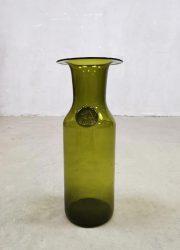 Vintage midcentury Danish design vase Holmegaard vaas 'Green Spirit'