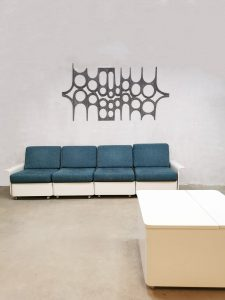 Vintage Space Age lounge set modular couch and coffee table