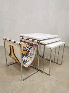Vintage Dutch design nesting tables mimiset bijzettafels Brabantia